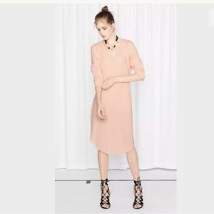 & other Stories Cotton Crepe Dress Oversized Tunic